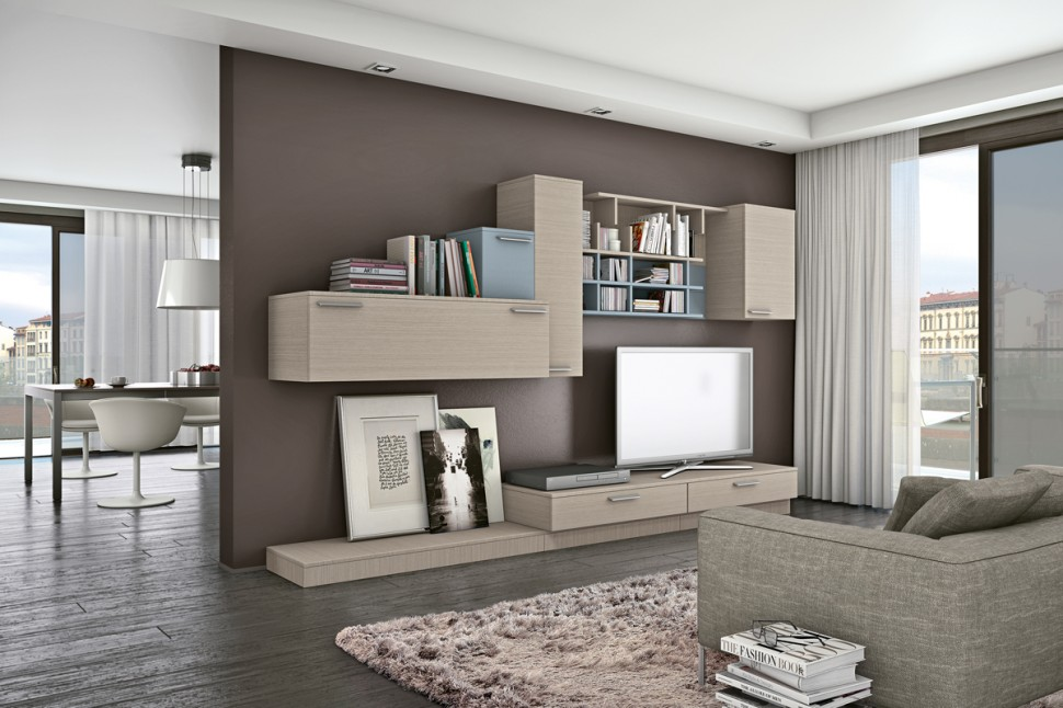 Living room bookshelves tv cabinets 4 interior design Living room cupboards designs