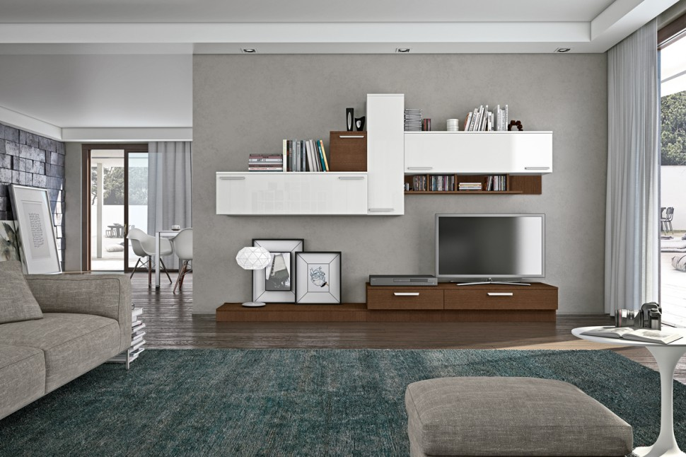 Living room bookshelves tv cabinets 7 interior design Living room cupboards designs