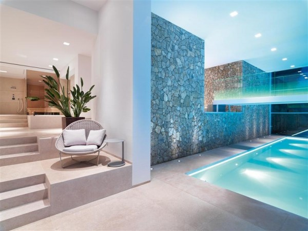 home indoor pool lighting