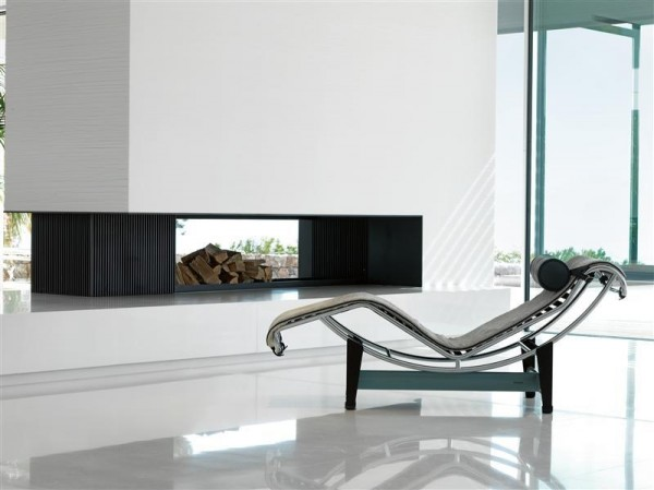lounge chair fireplace