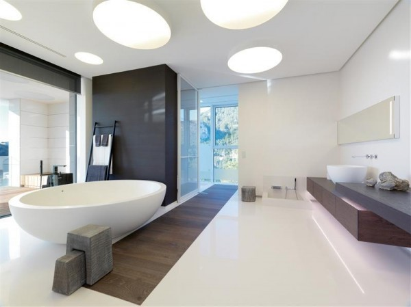 sleek bathroom