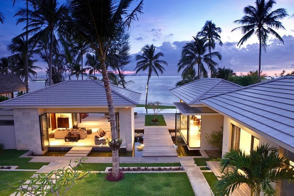 Elegant thai retreat koh samui for Thai modern house style