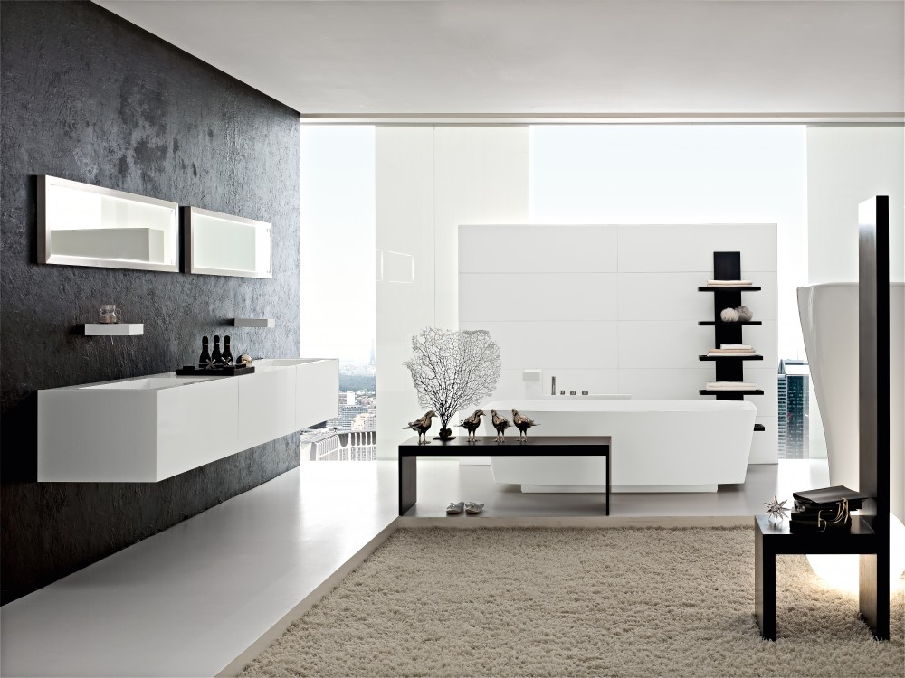 Ultra modern italian bathroom design for Pictures of new bathrooms