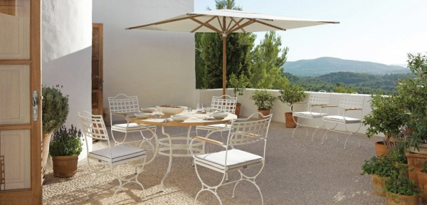 Solid and traditional, and elegant in design, these pieces make the perfect place to serve brunch, or sip tea in the sunshine. This chair design has a timeless appeal, and a neat table completes the look perfectly.