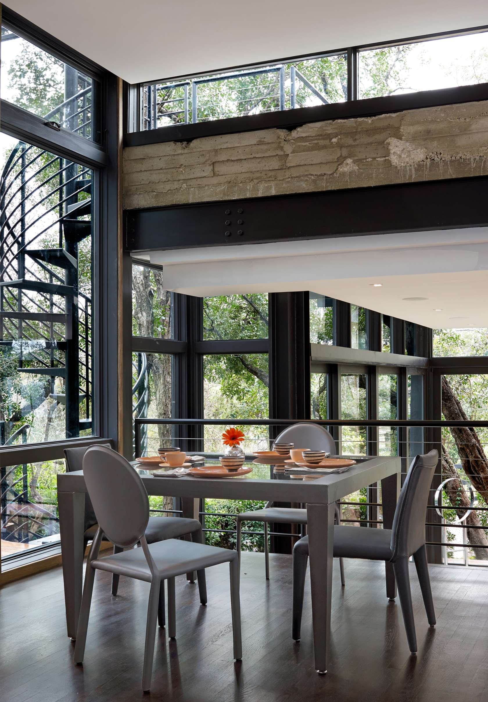 Modern Dining Room - Environmentally responsible home san antonio