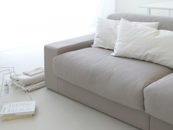 White sofa pillows