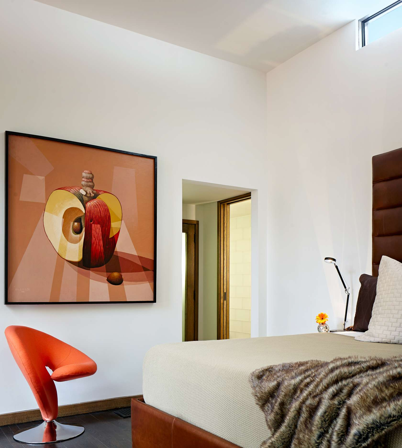 Modern Orange Chair - Environmentally responsible home san antonio