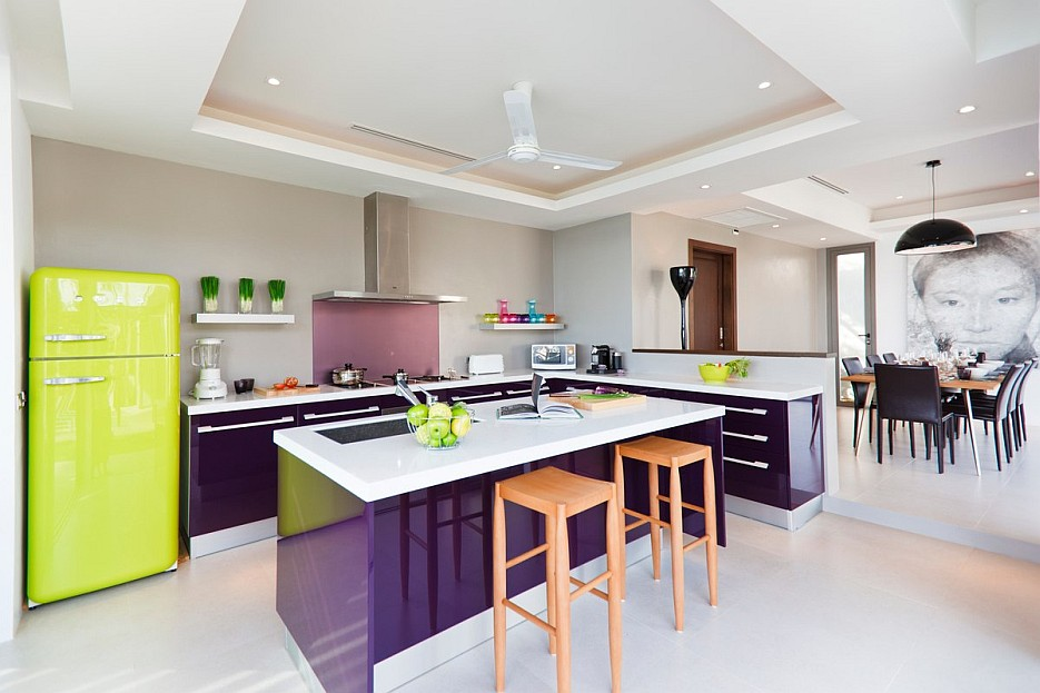 Purple Kitchen Interior Design Ideas