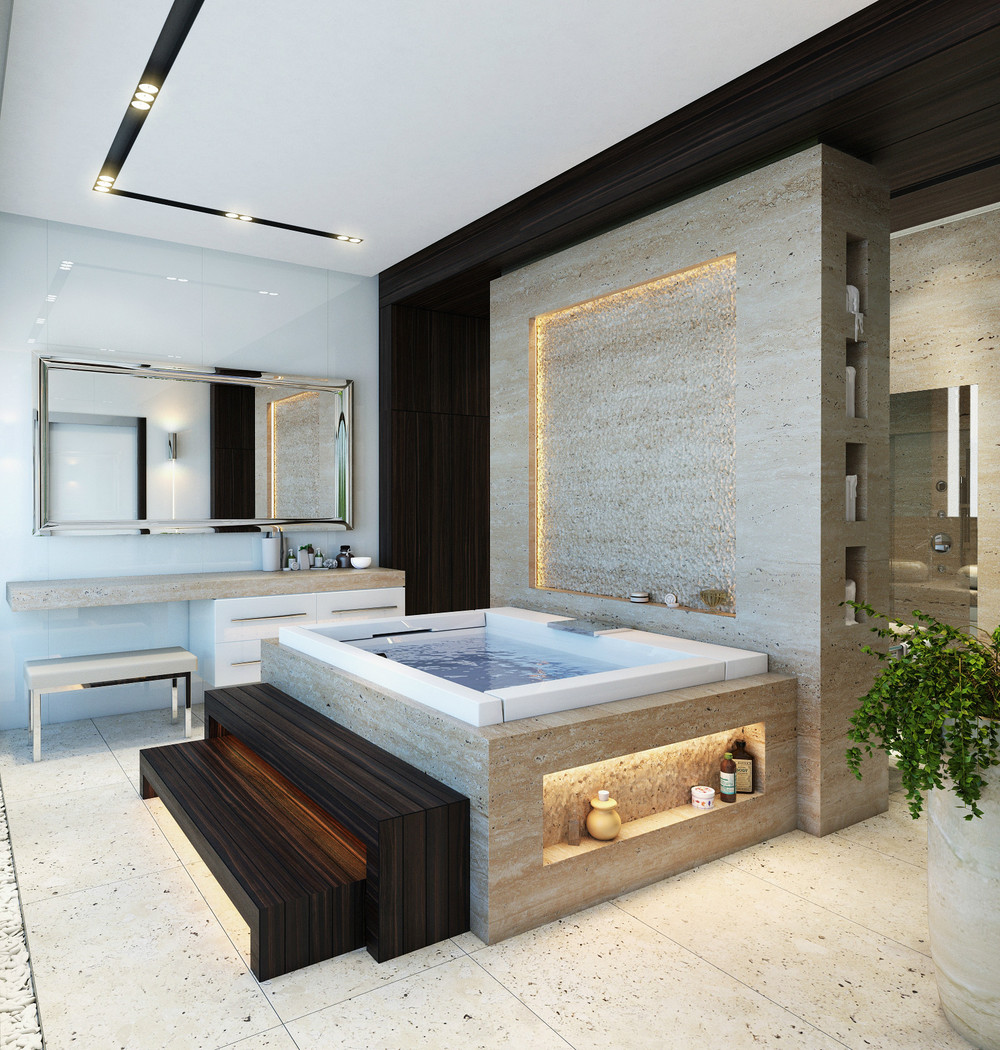 An in depth look at 8 luxury bathrooms for Modern bathroom ideas 2015