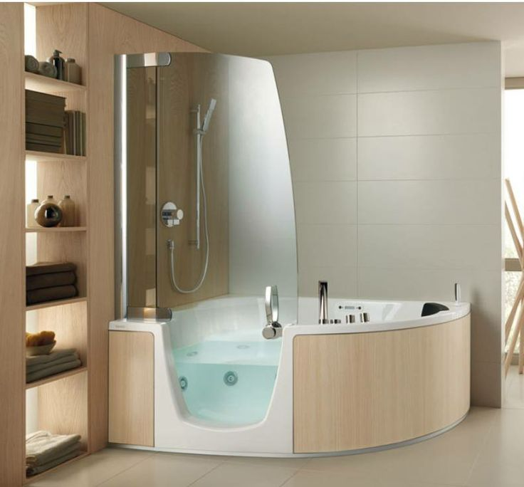 Shower room design - Corner tub bathrooms design ...