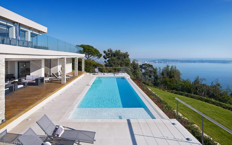 Open Air Swimming Pool - Cote d azur villa with spectacular sea views
