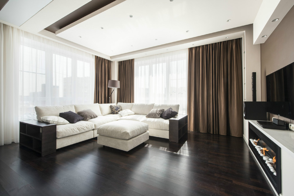 White And Brown Living Room taupe and brown living room – modern house