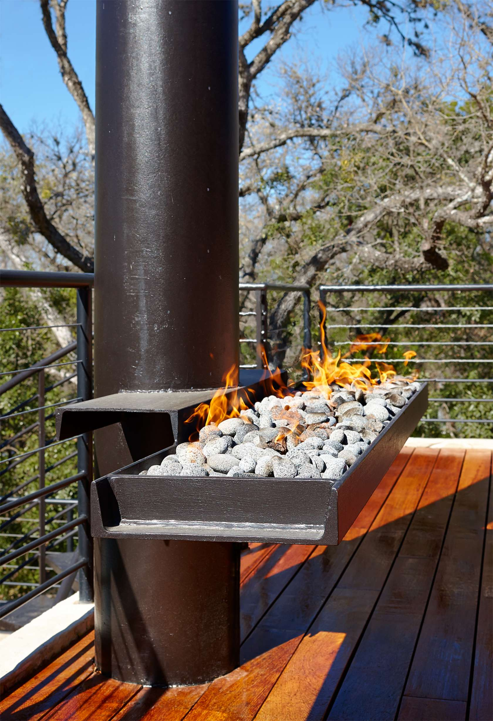 Fire Pit - Environmentally responsible home san antonio