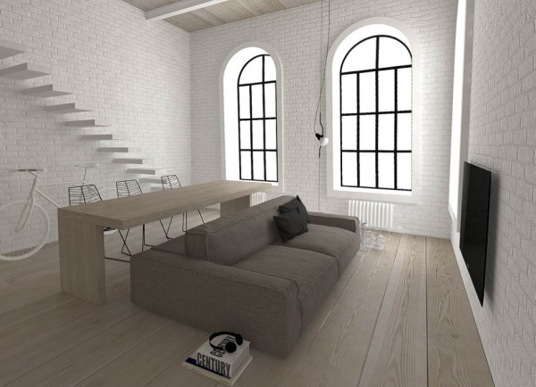 This central placement of furniture is also well suited to rooms with sloping attic ceilings, or the irregular shaped perimeters found in more historical buildings.