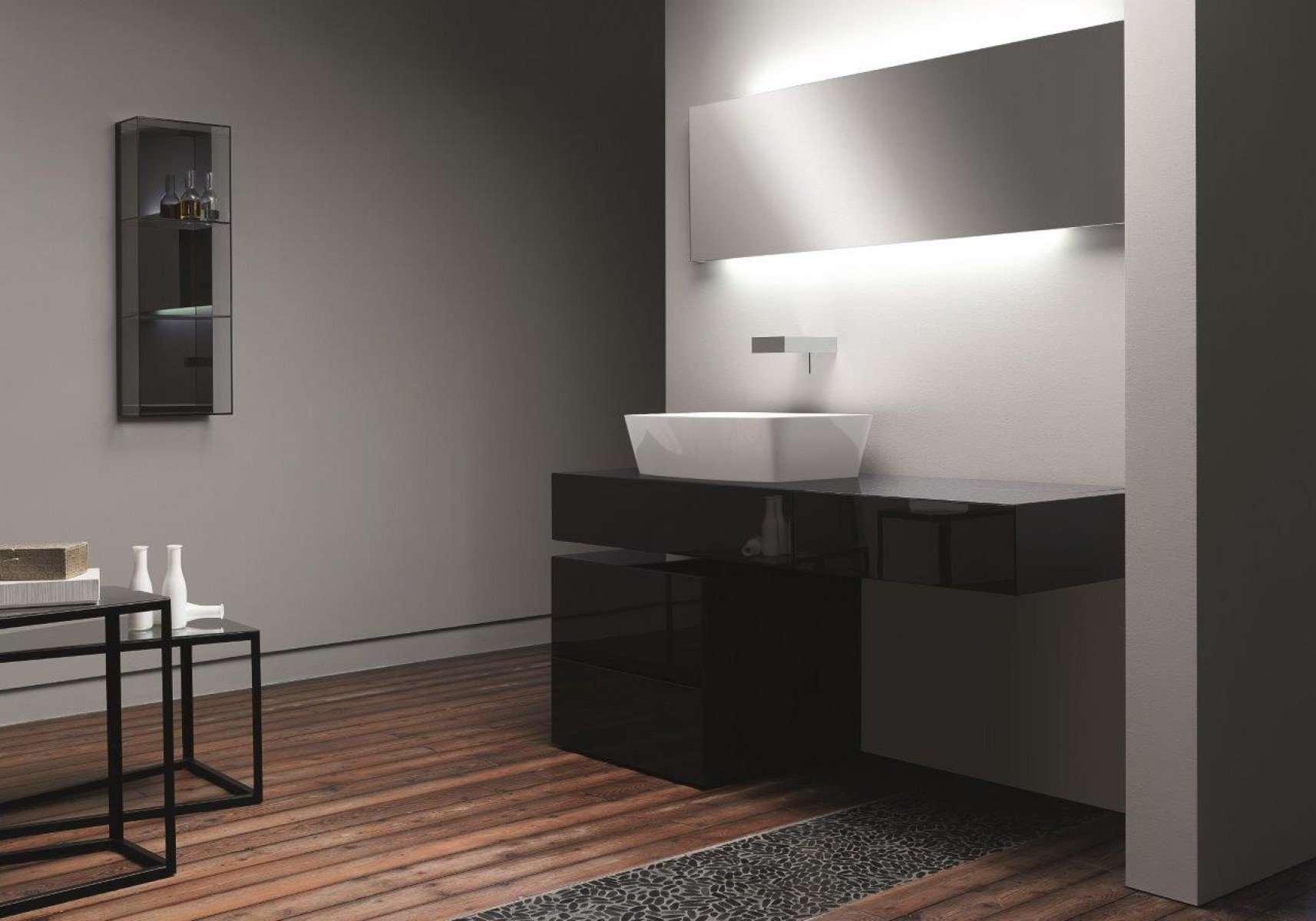 Contemporary Bathroom Vanity Units ultra modern italian bathroom design