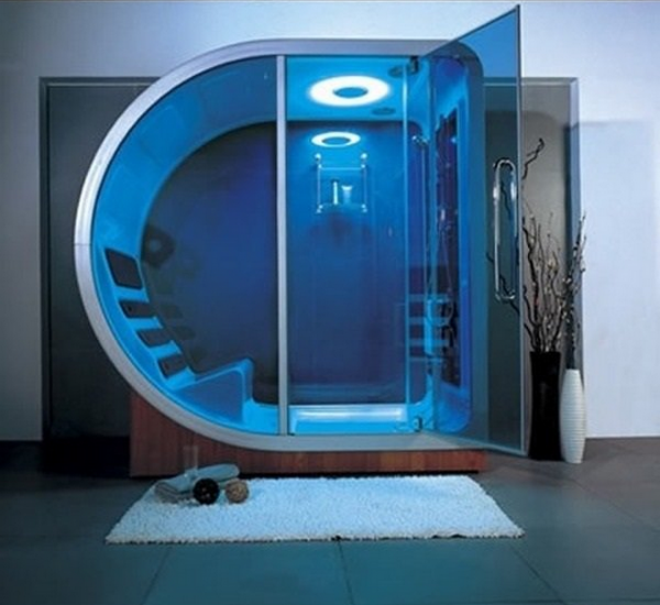 How about a futuristic pod shower?