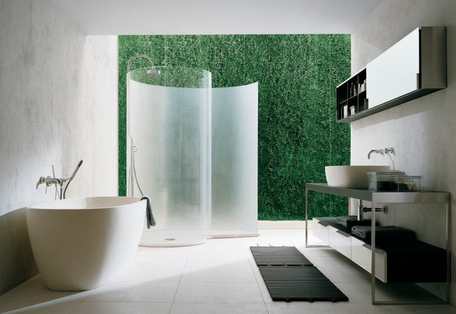 curved shower screen interior design ideas