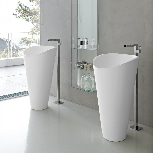 Simple isn't always boring, as with these elegantly formed basins.