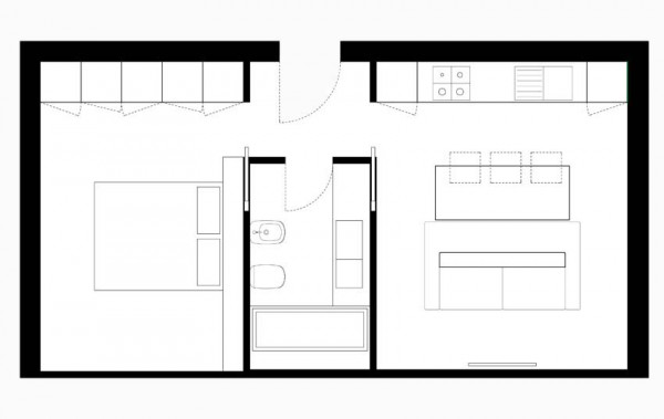 Open plan home layout