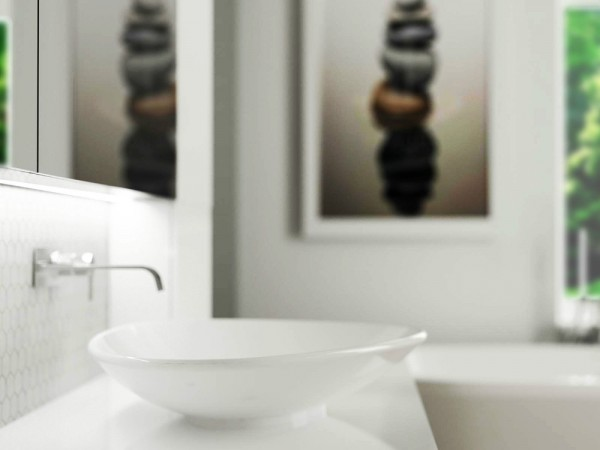 Serene bathroom basin