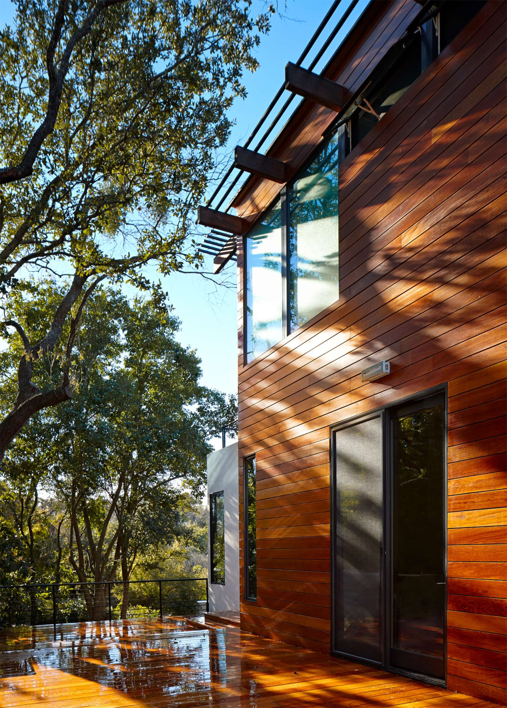 Wood Clad Exterior - Environmentally responsible home san antonio