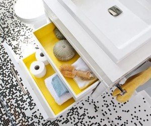 Drawers are an ideal way to house bits and bobs away quickly if you're not great at decluttering and organizing. A wall mounted design also makes your floor space look bigger, and is easier to clean around too.