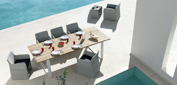 We're not discovering a brand new idea here, wicker outdoor furniture has been around for a very long time, but it really can look amazingly contemporary when selected in the right silhouette.