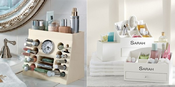 Makeup organizers can greatly reduce clutter.