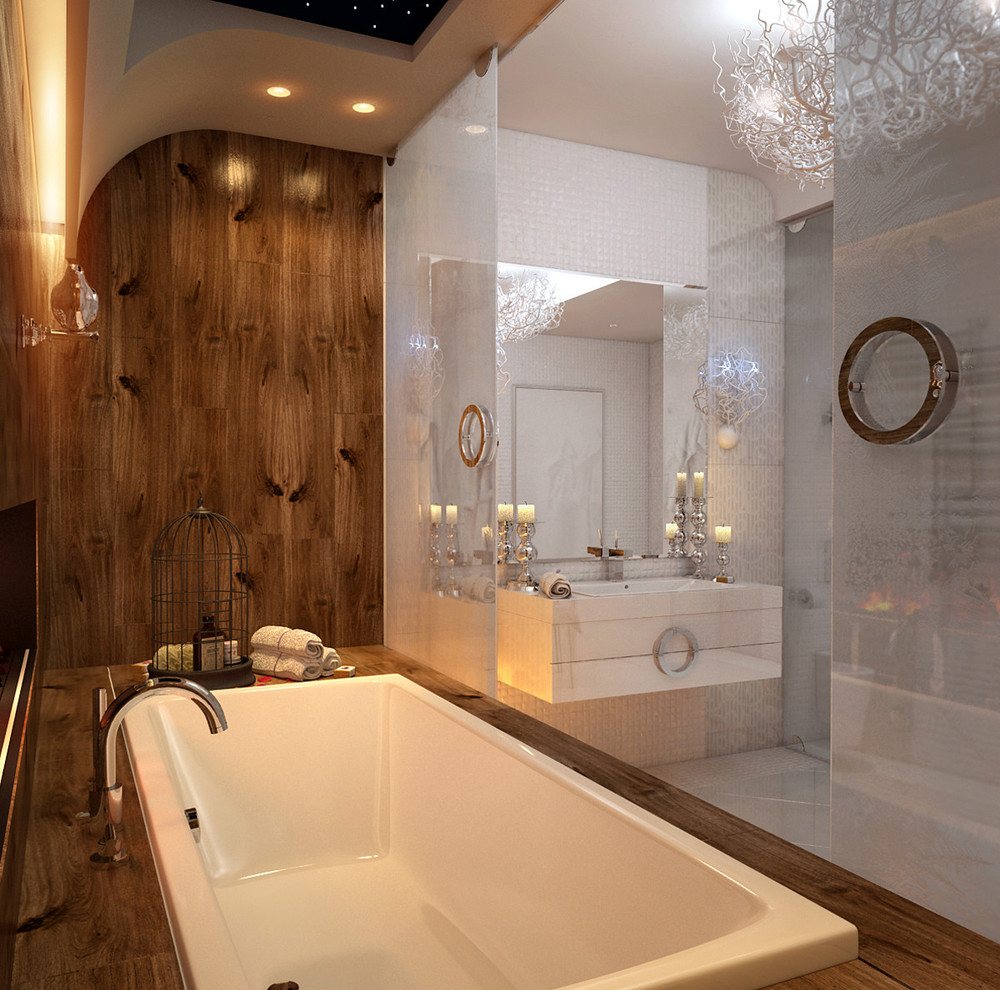 an in depth look at 8 luxury bathrooms. Black Bedroom Furniture Sets. Home Design Ideas