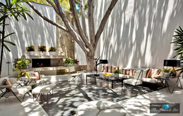 The serene atrium is a well of light, and a place for relaxation in the warmth of the sun, under the shade of an old tree, perfect.
