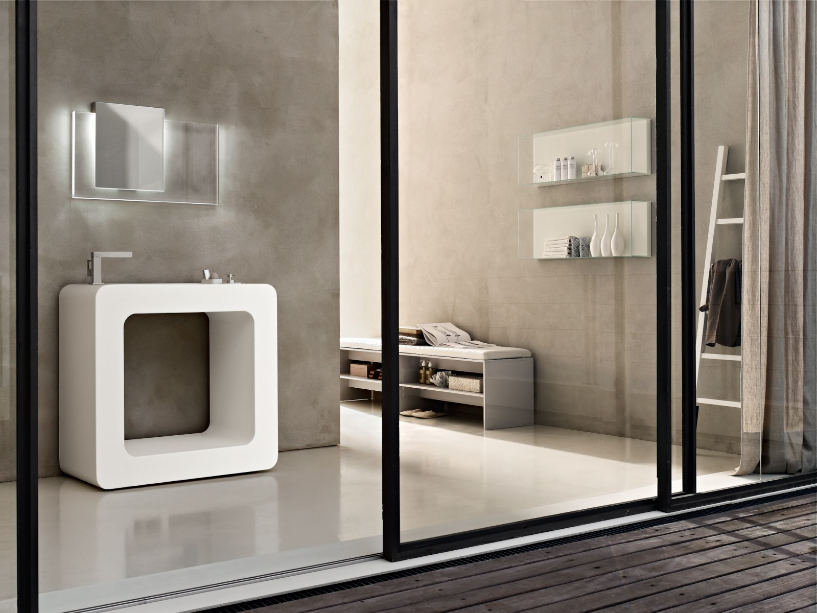Ultra modern italian bathroom design for Small bathroom designs 2014