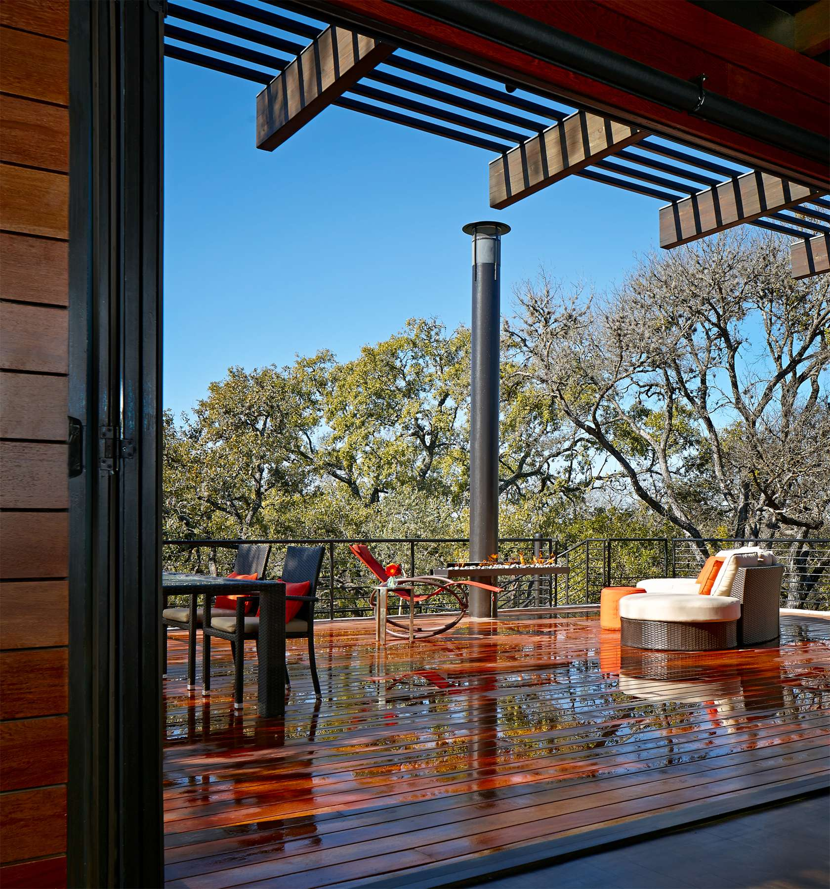 Outdoor Living Area - Environmentally responsible home san antonio