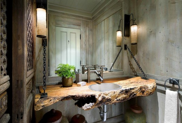 Try upcycling for a really thrifty bathroom vanity solution.