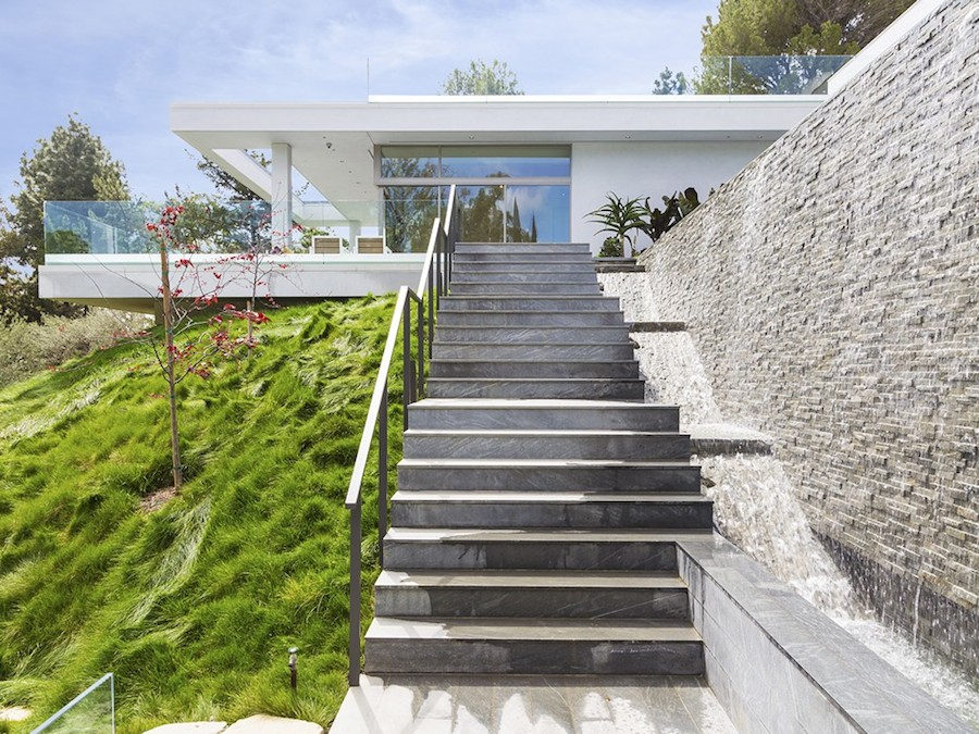 Exterior Staircase - Hilltop home in bel air