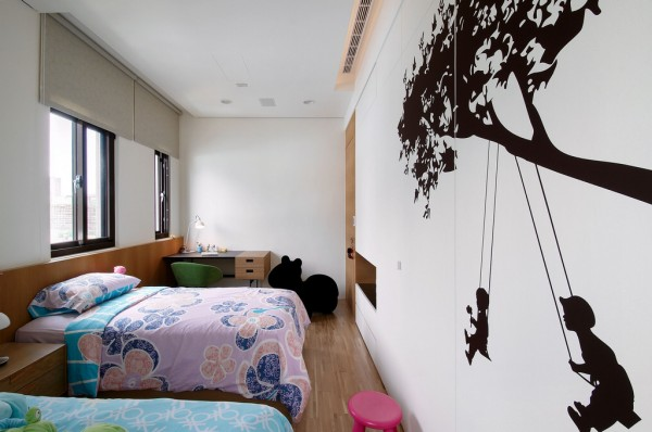 Large wall decals are quick but effective.