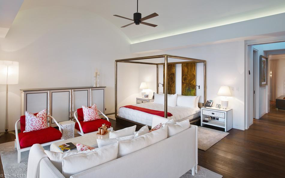 Red White Bedroom Decor - Luxury villa in the antibes
