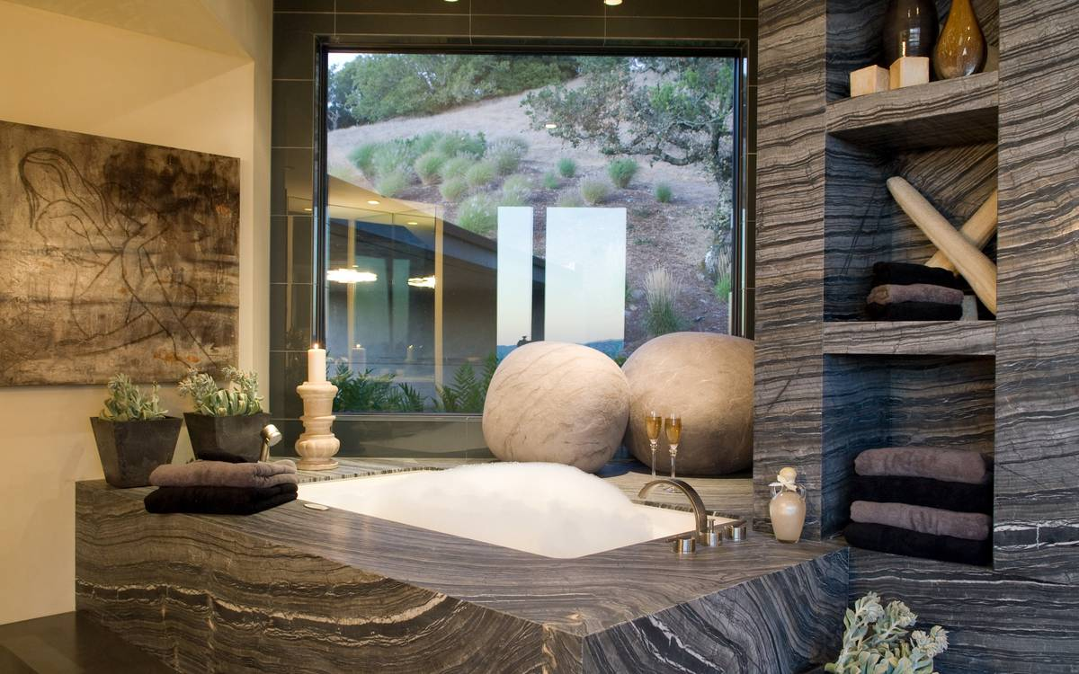 Luxury Bathroom - A serene california wine country home