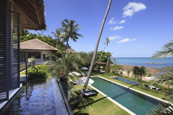 Two ocean view swimming pools and a generous beachside jacuzzi are close at hand.