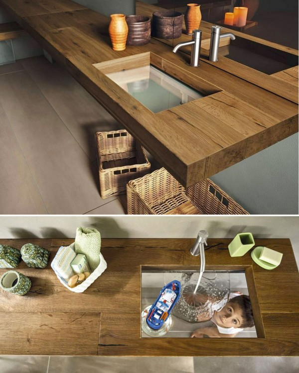 Transparent sink.