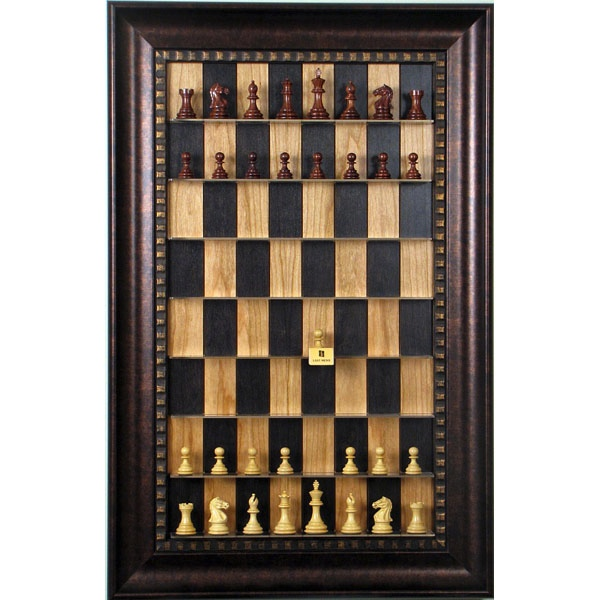 Straight up, wall mounted–and framed–chess.