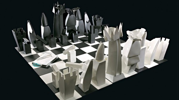 Frank Gehry designed chess set, made of fine bone-china. Available from Tiffany & Co for a cool $25,000.