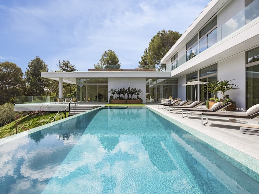 Hilltop home in bel air - Indoor swimming pools in los angeles ca ...