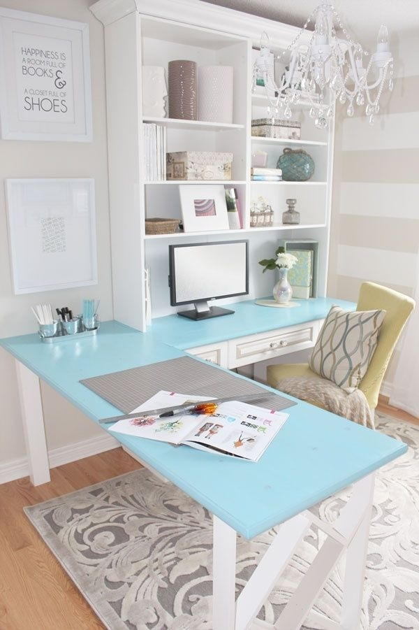 Diy Desk Traditional White Unit Interior Design Ideas