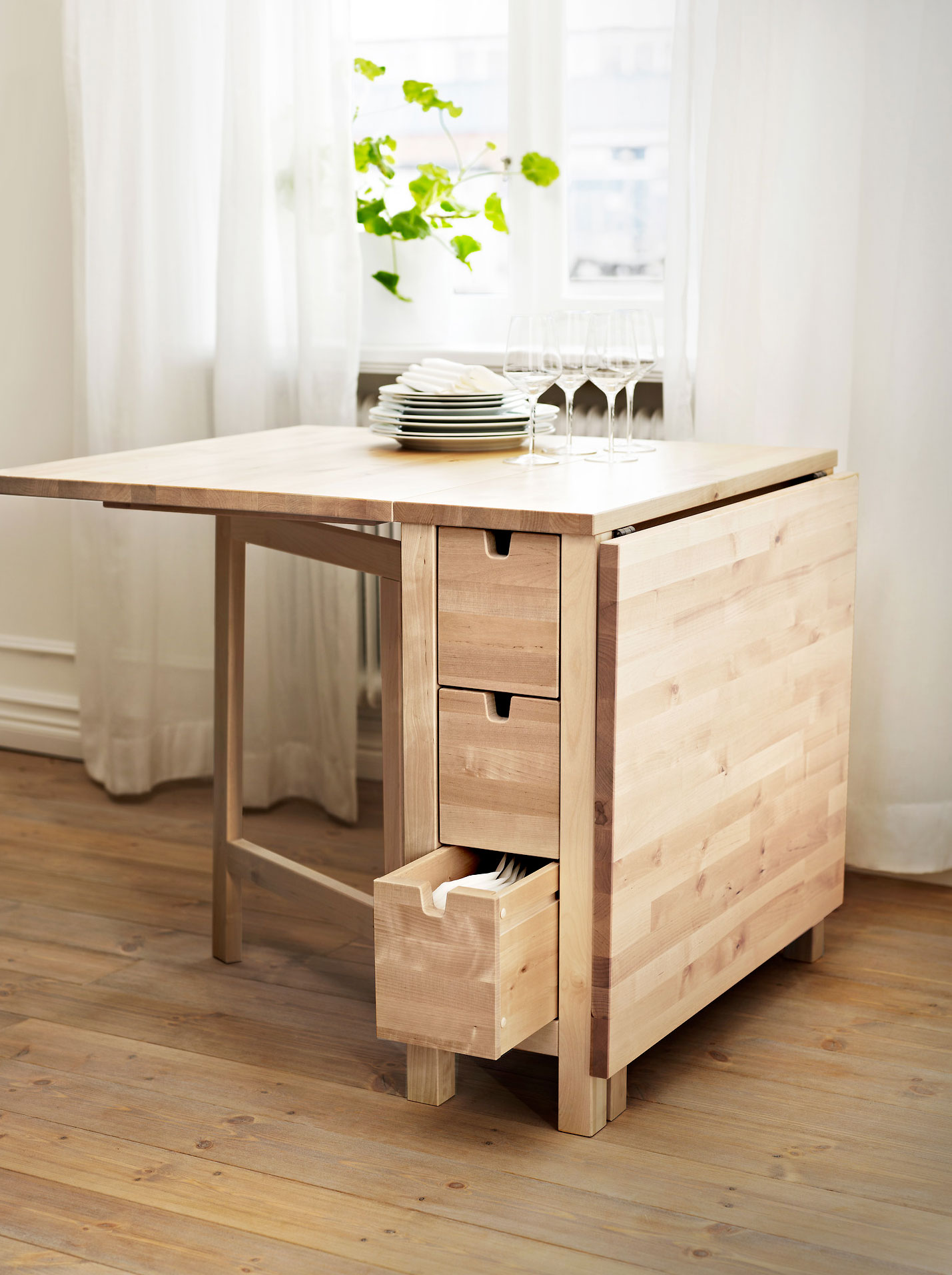 30 extendable dining tables for Small dining table with storage