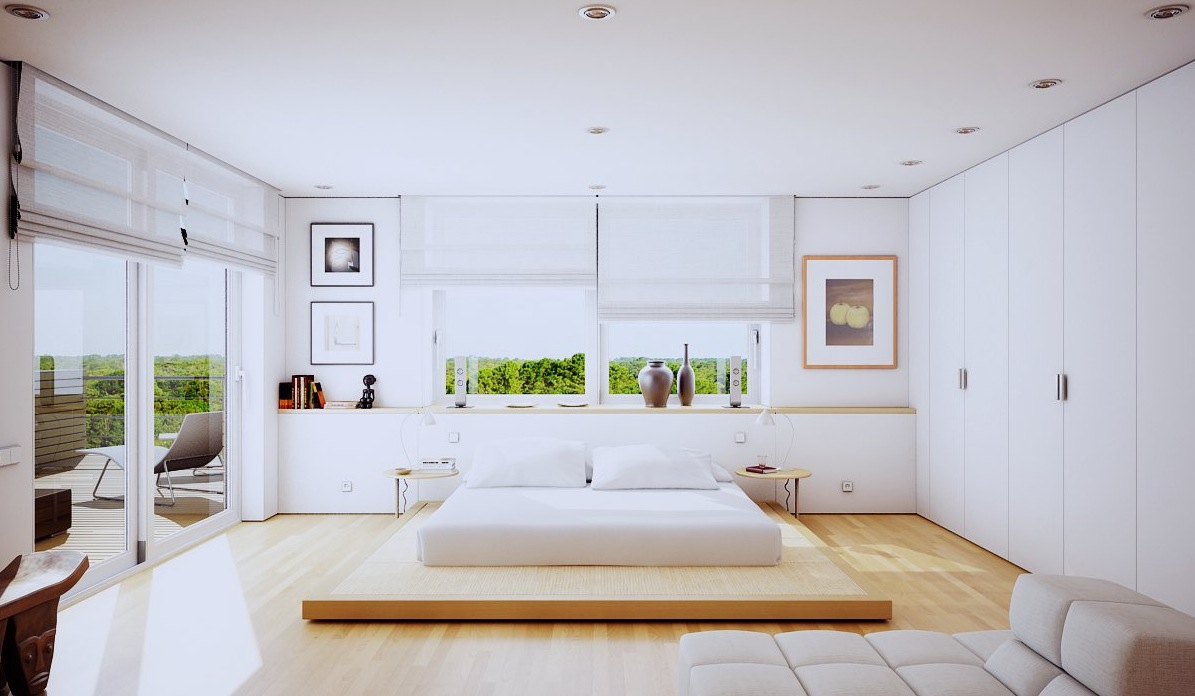 Modern Houses Interior Bedroom