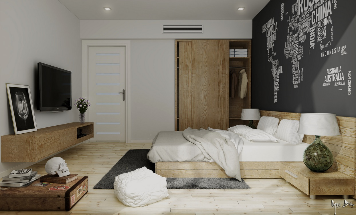 Bedroom Furniture - Interiors with natural and rustic accents