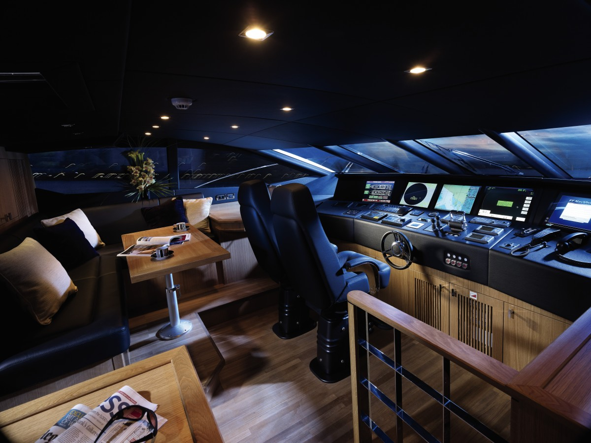 Yacht Control Room - Luxury yacht interior design