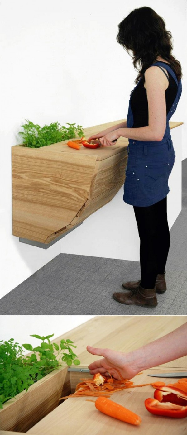 Or space for a built in herb planter.