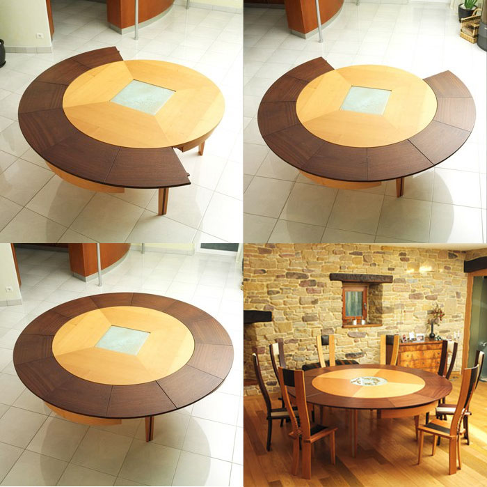 30 Extendable Dining Tables : 11 Circular expanding table from www.home-designing.com size 700 x 699 jpeg 100kB