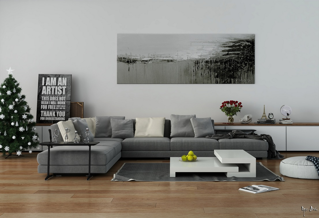 Gray Modular Sofa Interior Design Ideas